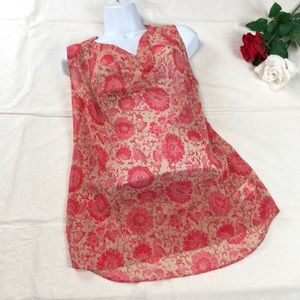 CAbi Floral Sheer Blouse XS